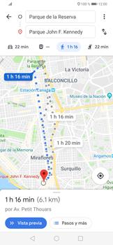 Uso de la navegación GPS - Huawei P30 - Passo 16