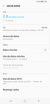Desactiva tu conexión de datos - Samsung Galaxy S8+ - Passo 7