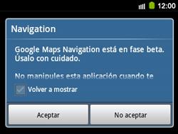 Uso de la navegación GPS - Samsung Galaxy Y Pro GT - B5510 - Passo 19