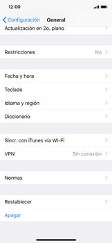 Restaura la configuración de fábrica - Apple iPhone X - Passo 4