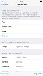Crea una cuenta - Apple iPhone 6 Plus - Passo 17