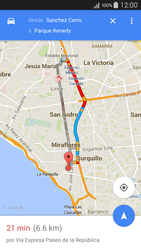 Uso de la navegación GPS - Samsung Galaxy A5 - A500M - Passo 13