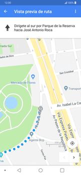 Uso de la navegación GPS - LG G7 ThinQ - Passo 16