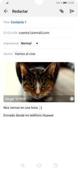 Cómo enviar un correo electrónico - Huawei P30 - Passo 16