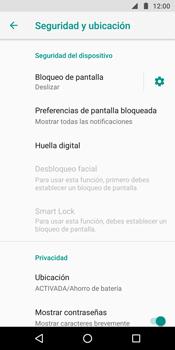 Desbloqueo del equipo por medio del patrón - Motorola Moto G6 Plus - Passo 5