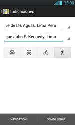 Uso de la navegación GPS - LG Optimus L7 - Passo 15