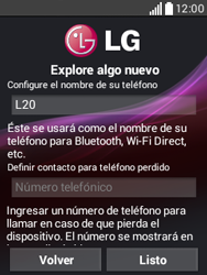 Activa el equipo - LG L20 - Passo 12