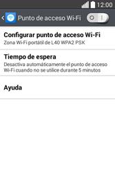 Configura el hotspot móvil - LG L40 - Passo 6