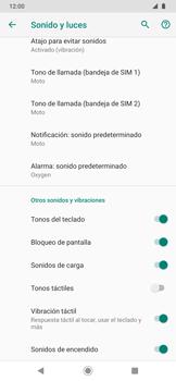Configuración de tono de llamada - Motorola One Zoom - Passo 12