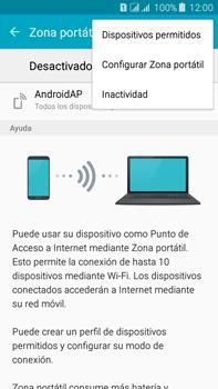 Configura el hotspot móvil - Samsung Galaxy J7 - J700 - Passo 7