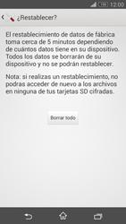 Restaura la configuración de fábrica - Sony Xperia Z3 Compact - Passo 7