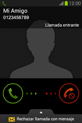 Contesta, rechaza o silencia una llamada - Samsung Galaxy Fame GT - S6810 - Passo 4