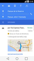 Uso de la navegación GPS - LG C50 - Passo 15