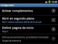 Configura el Internet - Samsung Galaxy Y Pro GT - B5510 - Passo 23