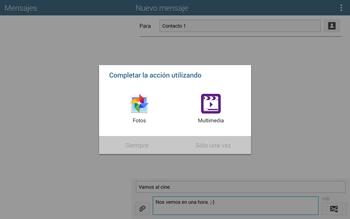 Envía fotos, videos y audio por mensaje de texto - Samsung Galaxy Note Pro - Passo 14