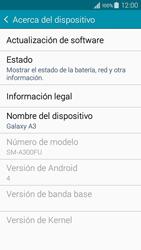 Actualiza el software del equipo - Samsung Galaxy A3 - A300M - Passo 6