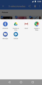 Transferir fotos vía Bluetooth - Motorola Moto E5 - Passo 9