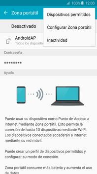 Configura el hotspot móvil - Samsung Galaxy Note 5 - N920 - Passo 7