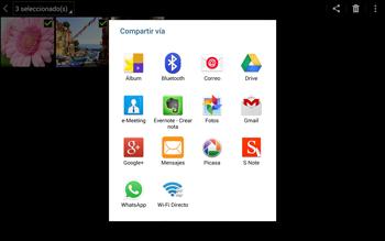 Transferir fotos vía Bluetooth - Samsung Galaxy Note Pro - Passo 8