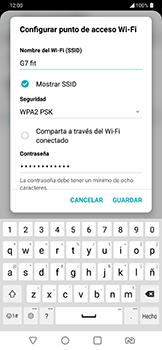 Configura el hotspot móvil - LG G7 Fit - Passo 7