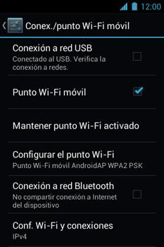 Configura el hotspot móvil - Motorola RAZR D1 XT914 - Passo 11