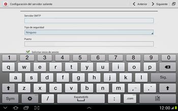 Configura tu correo electrónico - Samsung Galaxy Note 10-1 - N8000 - Passo 13