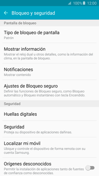 Desbloqueo del equipo por medio del patrón - Samsung Galaxy Note 5 - N920 - Passo 16