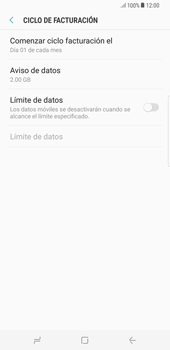 Desactivación límite de datos móviles - Samsung Galaxy S8+ - Passo 8