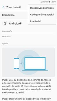 Configura el hotspot móvil - Samsung Galaxy A7 2017 - A720 - Passo 8