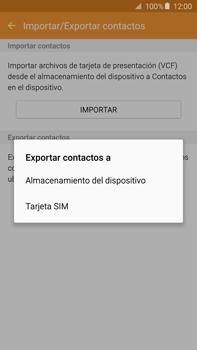 ¿Tu equipo puede copiar contactos a la SIM card? - Samsung Galaxy Note 5 - N920 - Passo 8