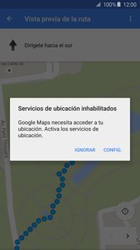 Uso de la navegación GPS - Samsung Galaxy Note 5 - N920 - Passo 17