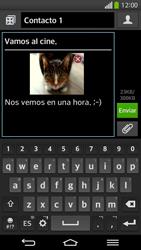 Envía fotos, videos y audio por mensaje de texto - LG G Flex - Passo 19