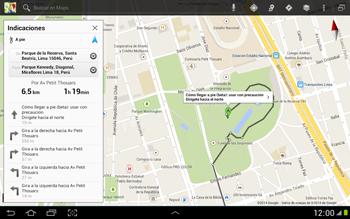 Uso de la navegación GPS - Samsung Galaxy Note 10-1 - N8000 - Passo 20
