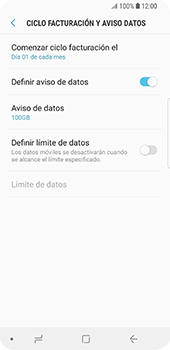 Desactivación límite de datos móviles - Samsung Galaxy S9 - Passo 8