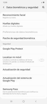 Habilitar seguridad de huella digital - Samsung Galaxy S10 Lite - Passo 4
