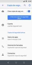 Realiza una copia de seguridad con tu cuenta - Motorola Moto E5 Play - Passo 10
