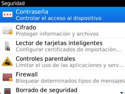 Activa o desactiva el uso del código de seguridad - BlackBerry Bold 9720 - Passo 4