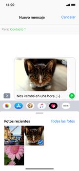 Envía fotos, videos y audio por mensaje de texto - Apple iPhone XS - Passo 12
