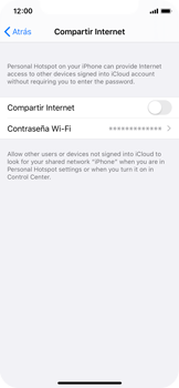 Configura el hotspot móvil - Apple iPhone XS - Passo 6