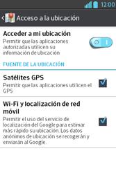 Uso de la navegación GPS - LG L4 II - Passo 9