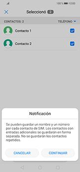 ¿Tu equipo puede copiar contactos a la SIM card? - Huawei Mate 20 Lite - Passo 8