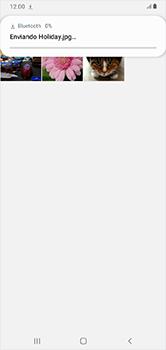 Transferir fotos vía Bluetooth - Samsung Galaxy A10 - Passo 13