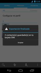 ¿Tu equipo puede copiar contactos a la SIM card? - Motorola RAZR HD  XT925 - Passo 11