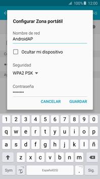 Configura el hotspot móvil - Samsung Galaxy Note 5 - N920 - Passo 8