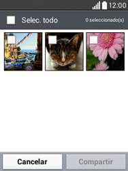 Transferir fotos vía Bluetooth - LG L20 - Passo 6