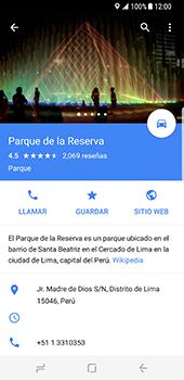 Uso de la navegación GPS - Samsung Galaxy S8 - Passo 10