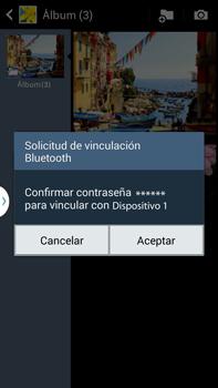 Transferir fotos vía Bluetooth - Samsung Galaxy Note Neo III - N7505 - Passo 13