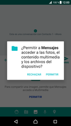 Envía fotos, videos y audio por mensaje de texto - Sony Xperia XZ Premium - Passo 13
