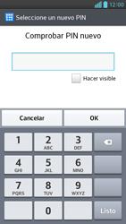 Activa o desactiva el uso del código de seguridad - LG Optimus G Pro Lite - Passo 9