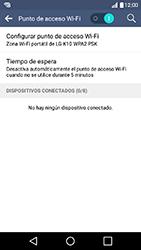 Configura el hotspot móvil - LG K10 - Passo 11